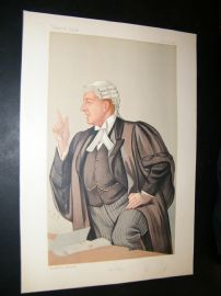 Vanity Fair Print 1891 Charles Frederick Gill, Legal